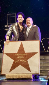 Jalles Franca with Producer Dick Feeney MJ Live Star Ceremony