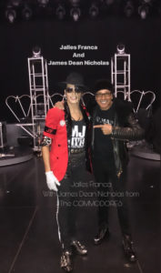 Jalles Franca with james dean nicholas backstage at mj live las vegas