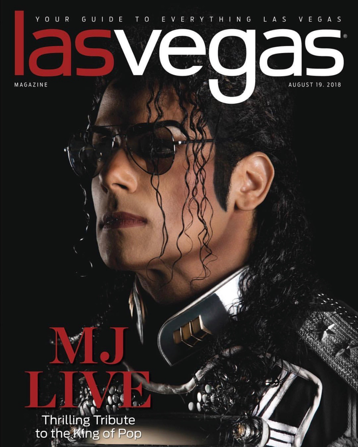 jalles franca as mj the legend on the cover of las vegas magazine